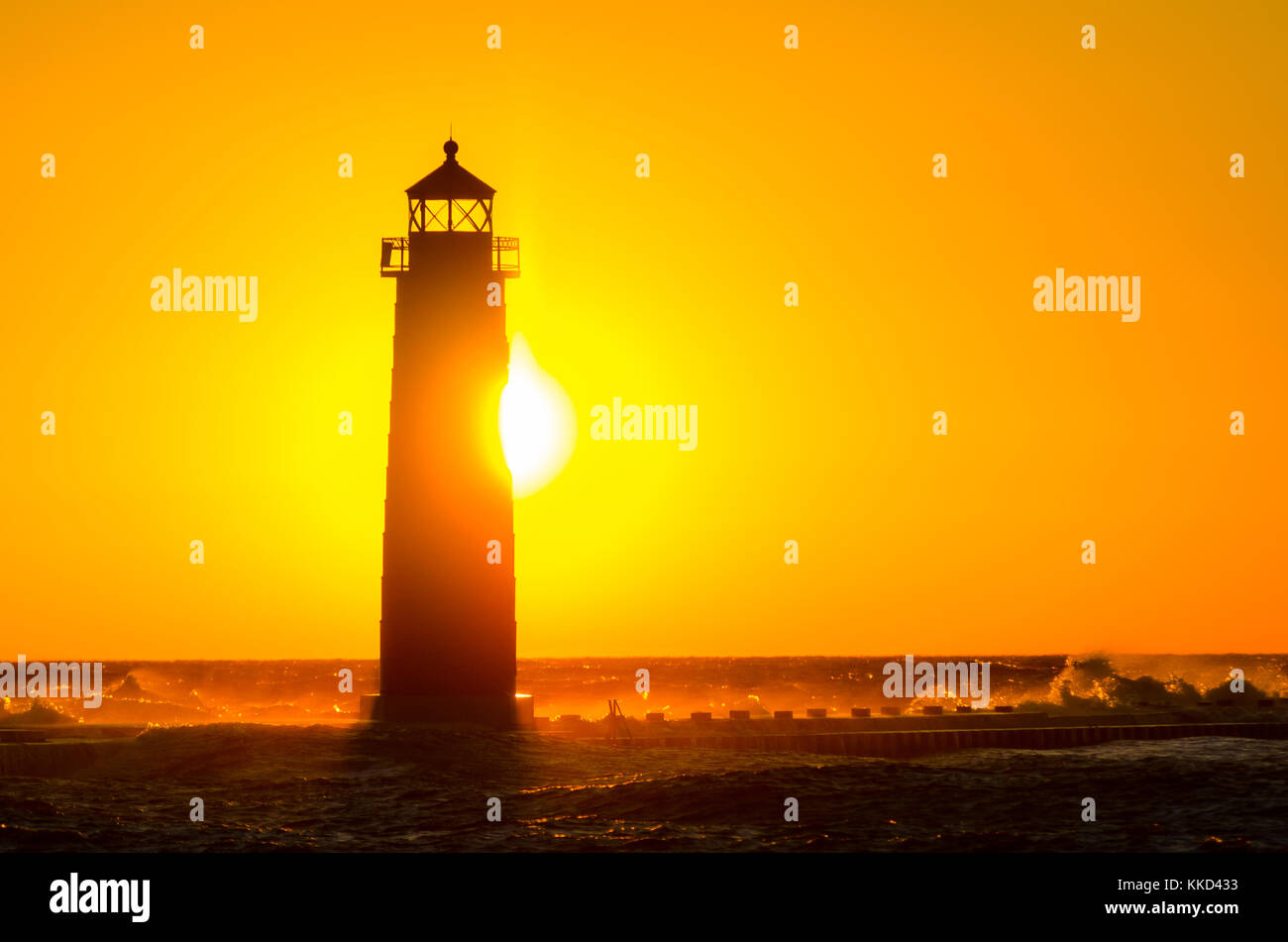 Grand Haven Michigan Lighthouse Stock Photos & Grand Haven