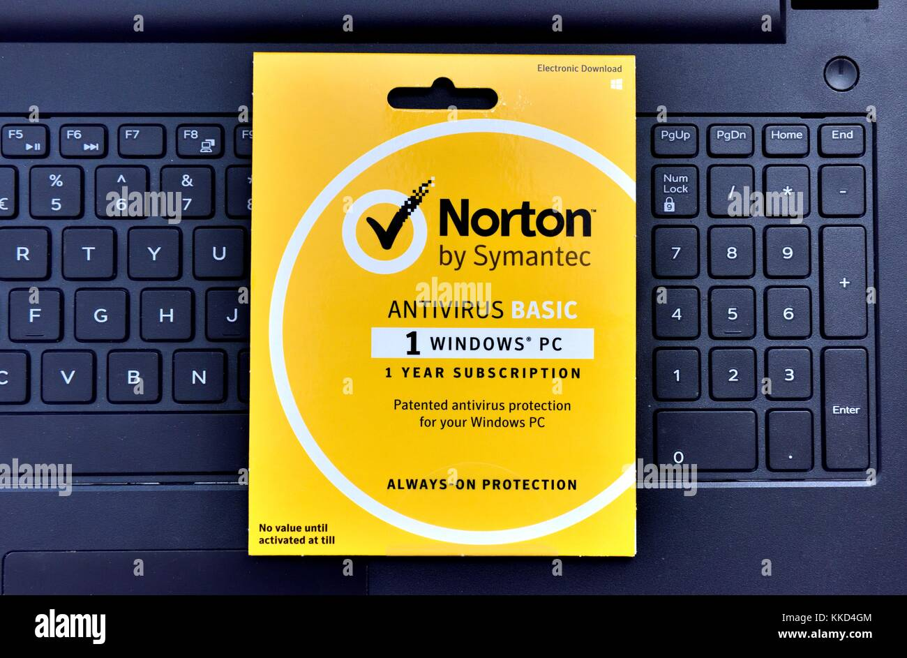 Norton antivirus basic download pack - Stock Image