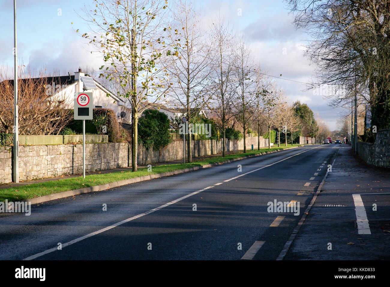 Quiet afternoon on the roads in Celbridge, Co. Kildare, Ireland - Stock Image