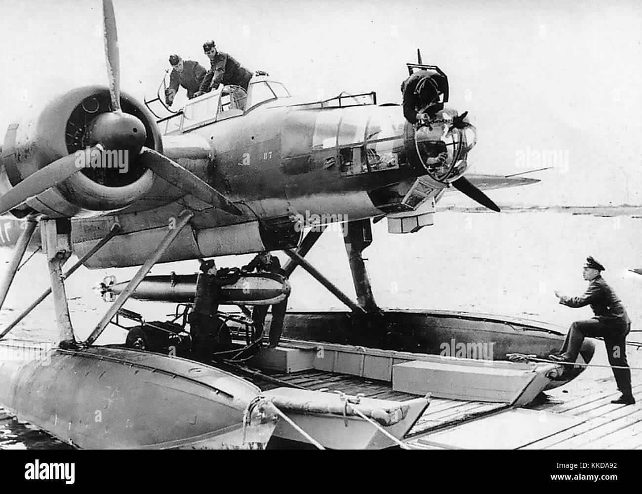HEINKEL  He 115  Second world war Luftwaffe three-seat seaplane fitted with a torpedo - Stock Image