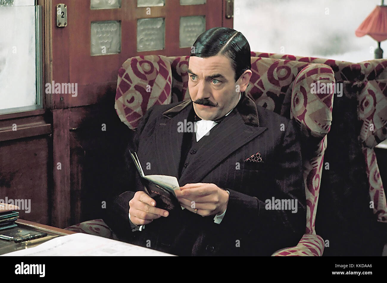 MURDER ON THE ORIENT EXPRESS 1974 EMI Films production with Albert Finney - Stock Image