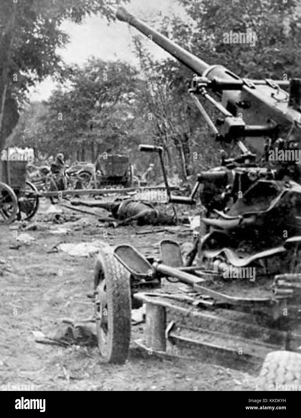 Polish artillery Battle of Bzura 1939 - Stock Image