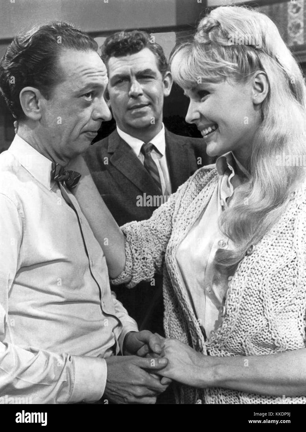 Andy Griffith Don Knots Margaret Teale Andy Griffith Show 1967 - Stock Image