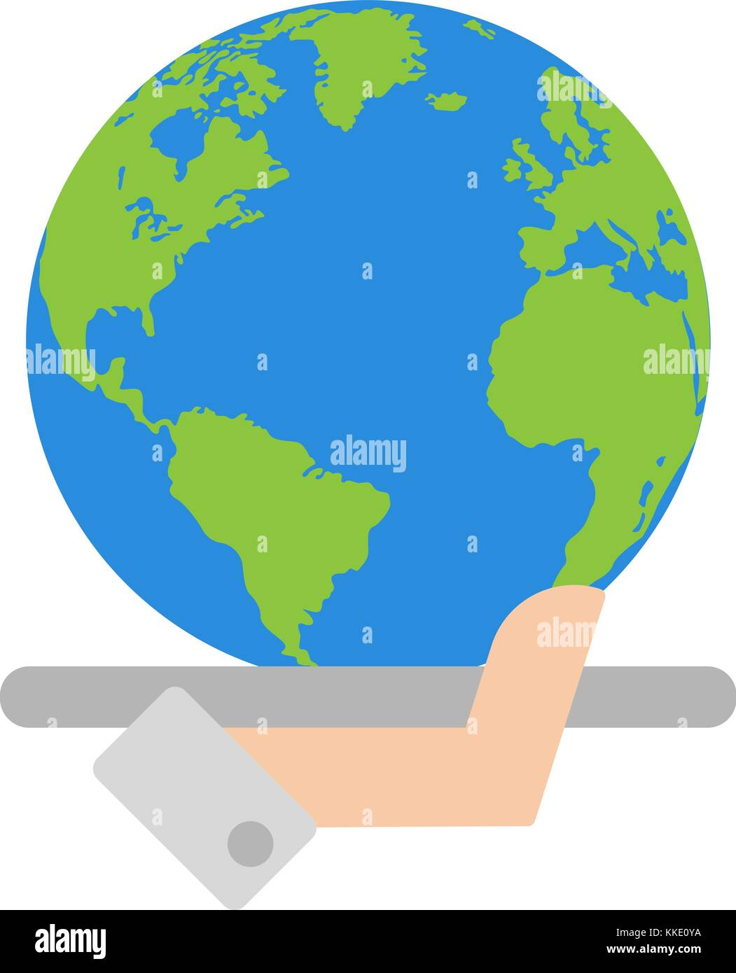 hand with global planet vector - Stock Vector
