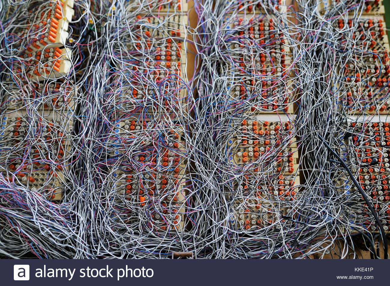 Astounding Switchboard Panel In Datacenter With Messy Cables Connections Stock Wiring Cloud Usnesfoxcilixyz