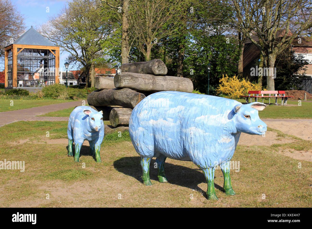 Texel Sheep Artwork in Den Burg, Texel Stock Photo