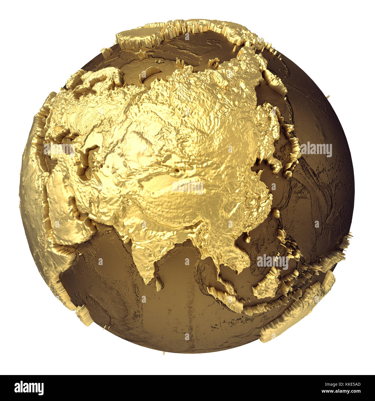 Golden globe model without water asia 3d rendering isolated on golden globe model without water asia 3d rendering isolated on white background elements of this image furnished by nasa publicscrutiny Choice Image