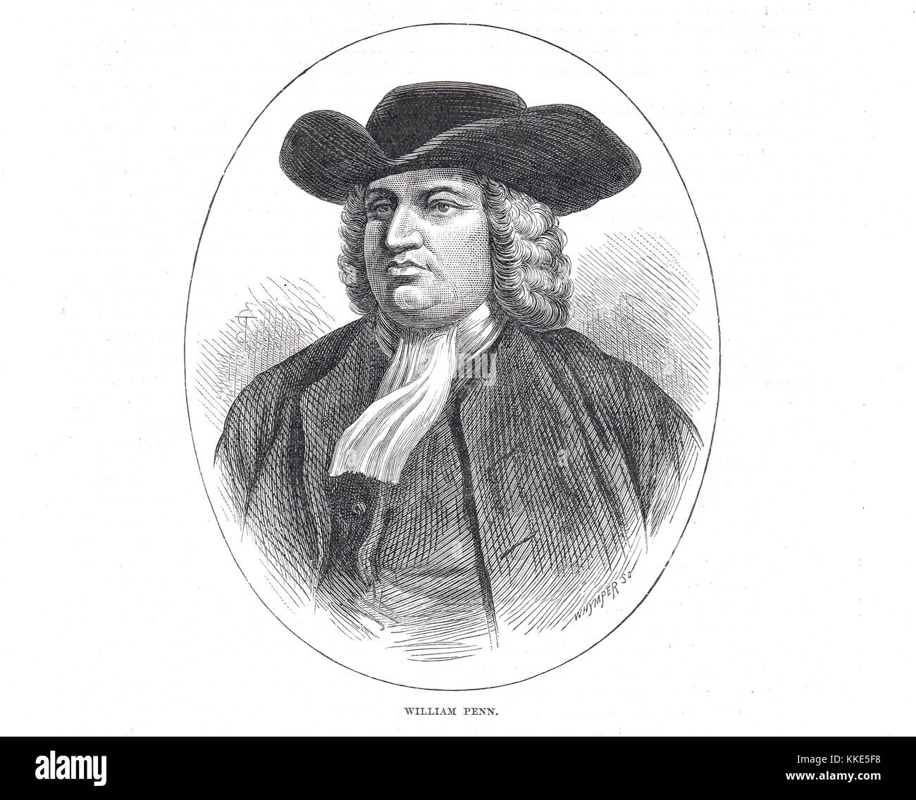 William Penn, founder of the State of Pennsylvania Stock Photo