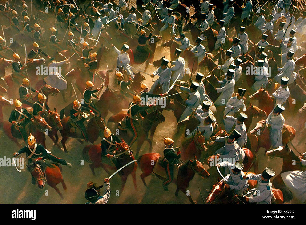 THE CHARGE OF THE LIGHT BRIGADE 1968 United Artists . British (at left) and Russian cavalry clash. Stock Photo