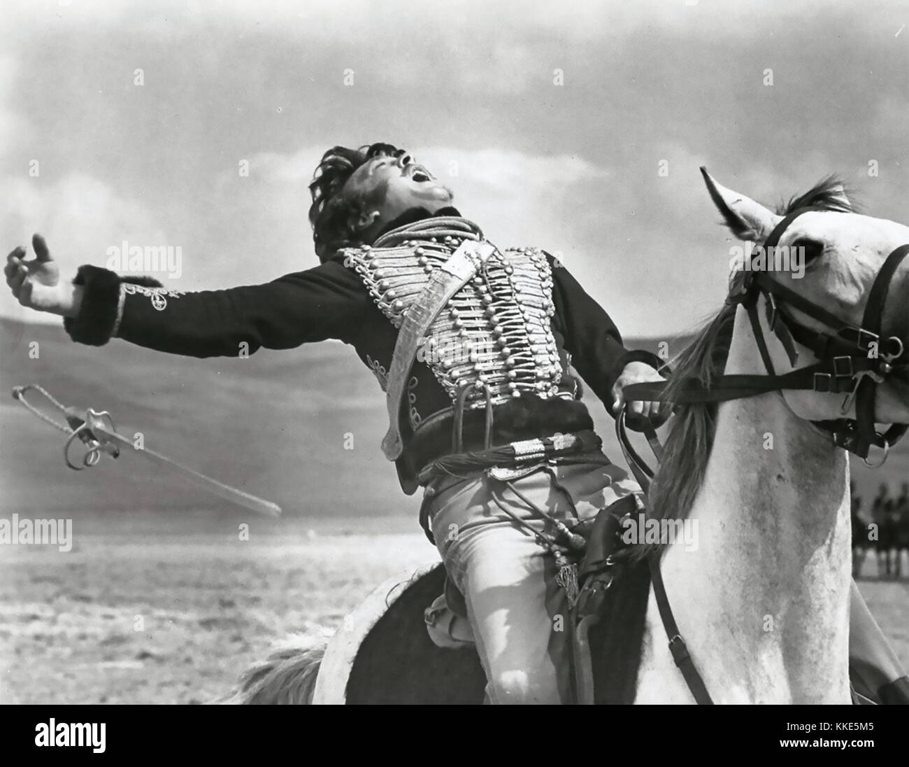 THE CHARGE OF THE LIGHT BRIGADE 1968 United Artists film with David Hemmings as Captain Louis Nolan - Stock Image