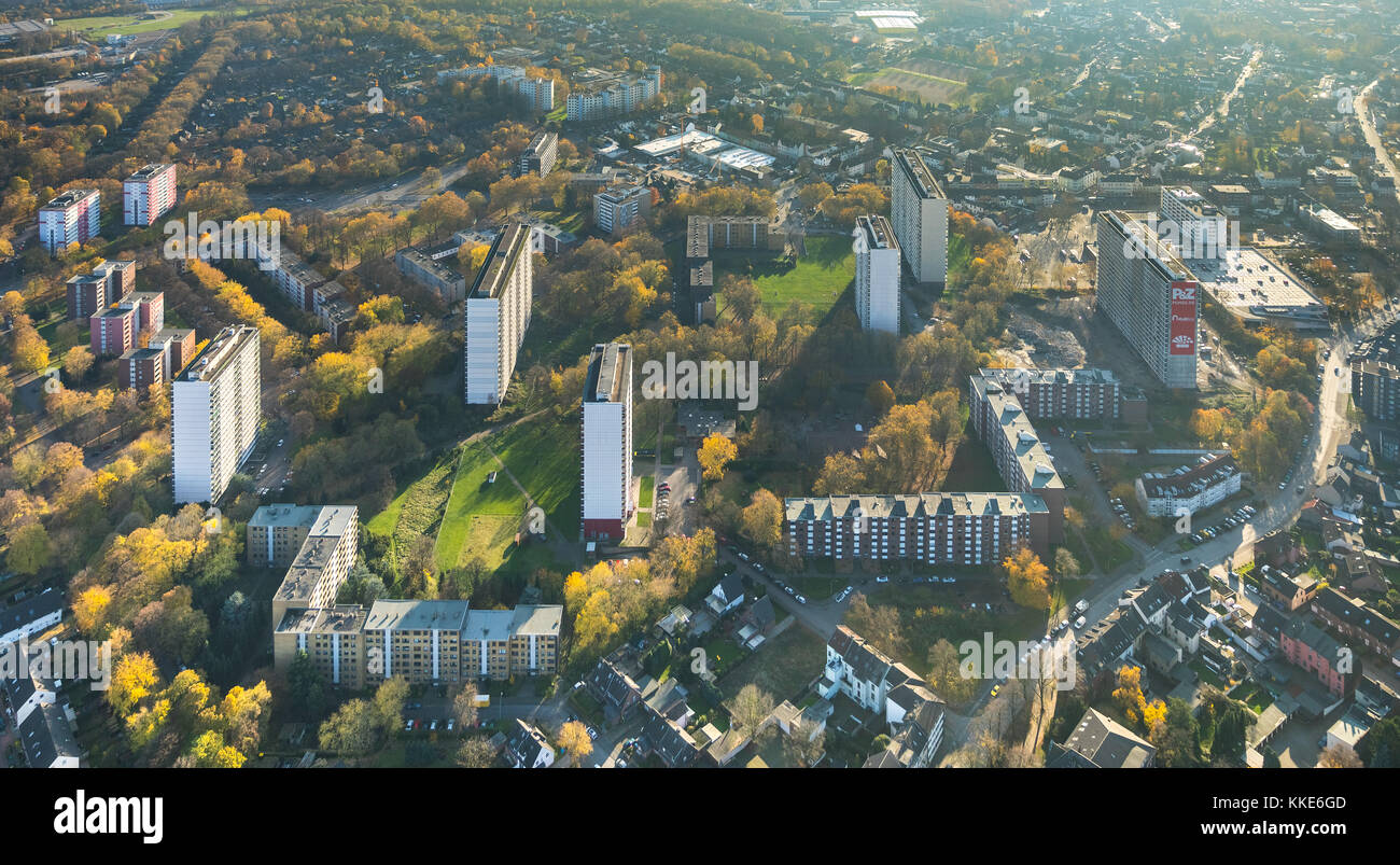 Demolition White giant on the Friedrich-Ebert-Strasse in Homberg-Hochheide, high-rise development, social hot spot, - Stock Image