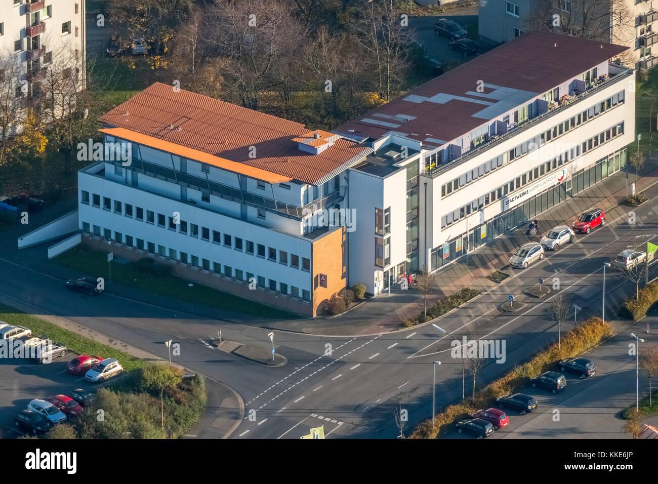 Stadtwerke Kamp-Lintfort, power supply companies, city heat Kamp-Lintfort, Federal Employment Agency Wilhelmstrasse, - Stock Image