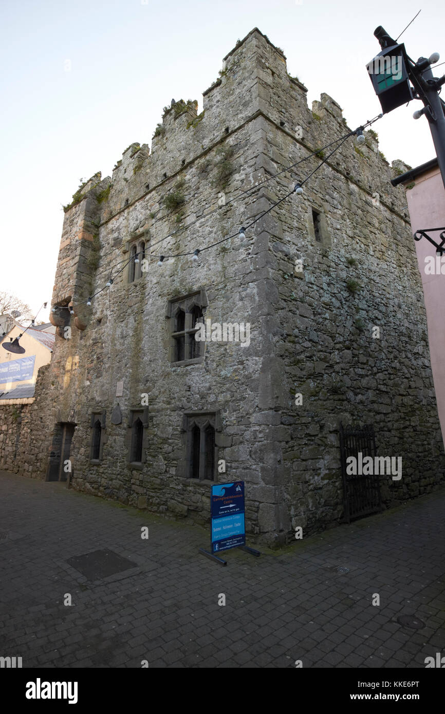 the mint fortified townhouse in historic tholsel street carlingford county louth republic of ireland - Stock Image