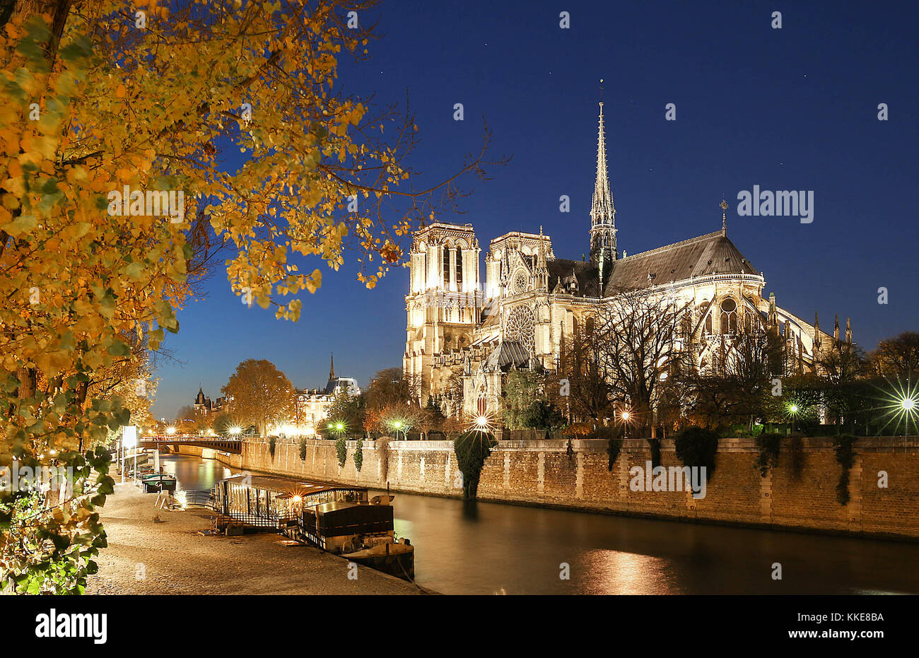 The Notre Dame is historic Catholic cathedral, one of the most visited monuments in Paris. - Stock Image