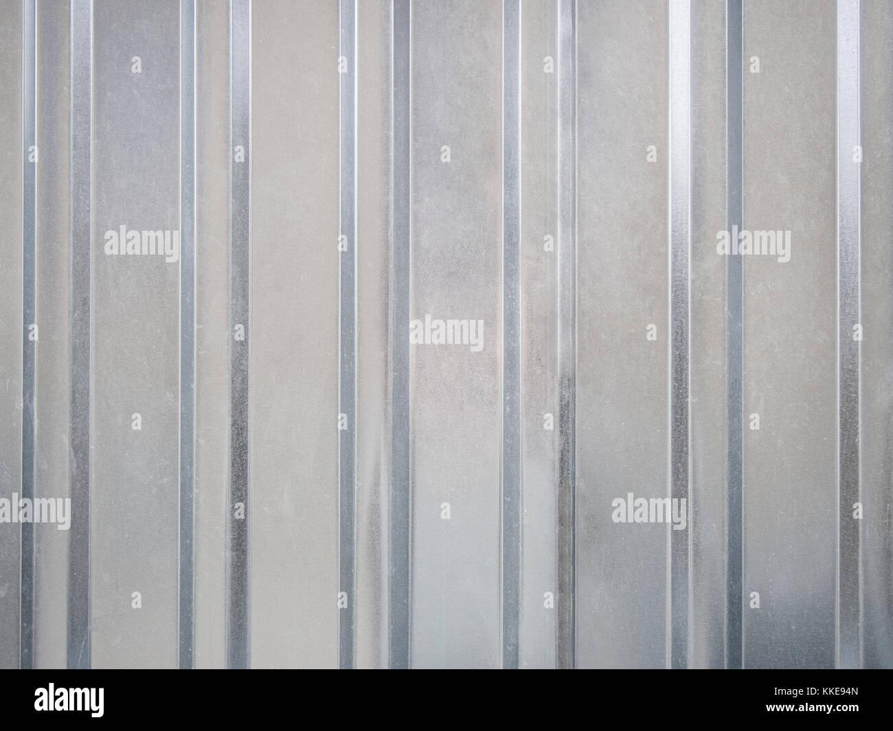 Galvanized corrugated board background - Stock Image
