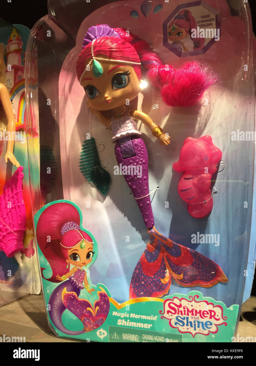 Shimmer and Shine Mermaid Doll, USA - Stock Image