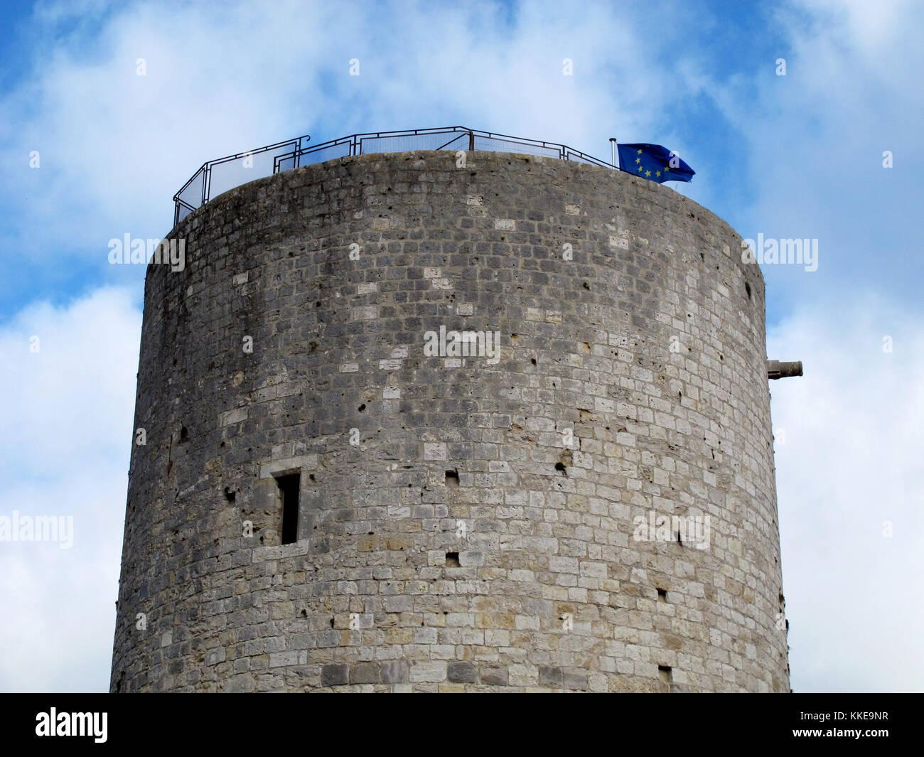 Dungeon of the Castle of Dourdan, Essonne, Ile-de-France, France, Europe Stock Photo