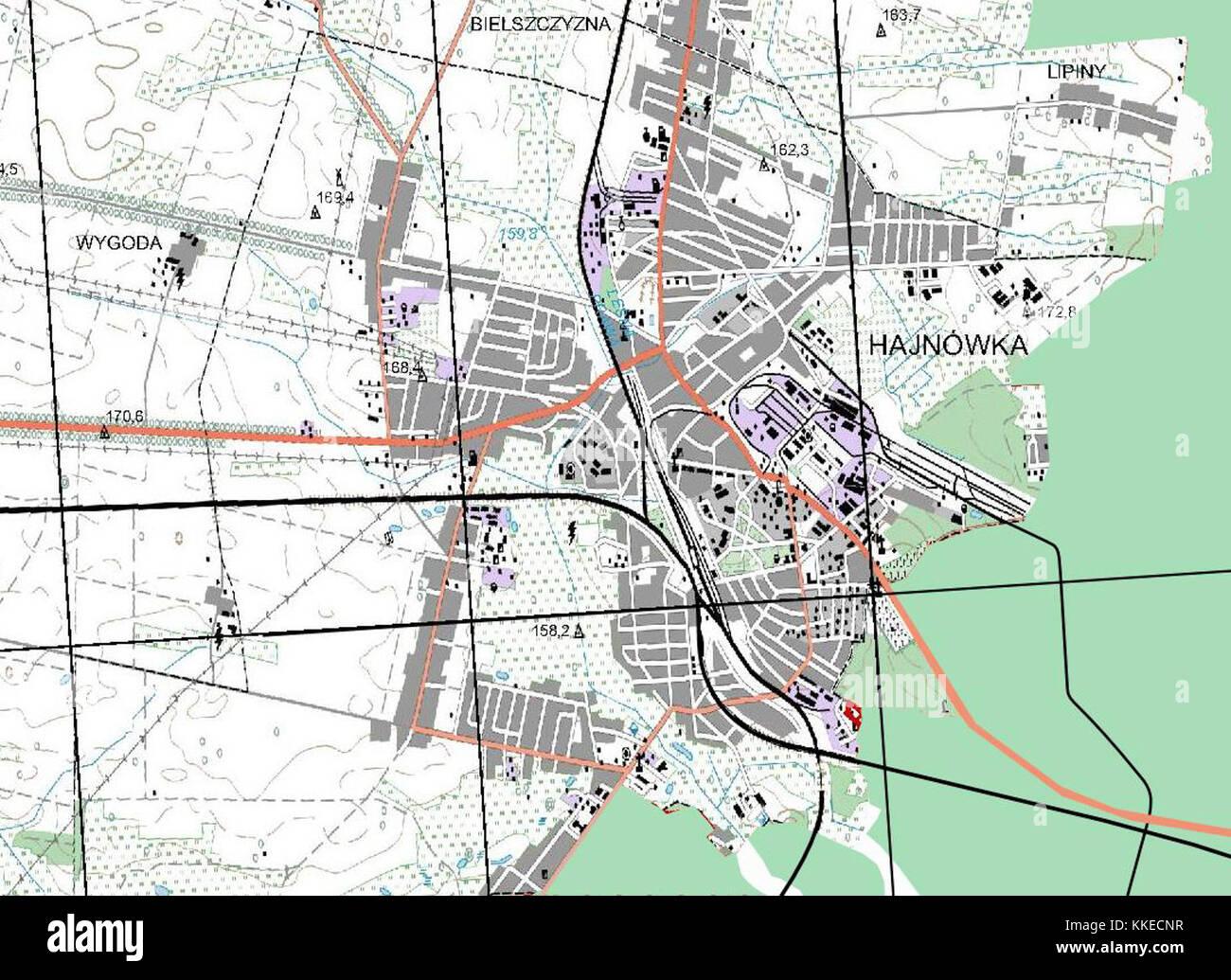 Hajnowka-plan-PLC50k - Stock Image