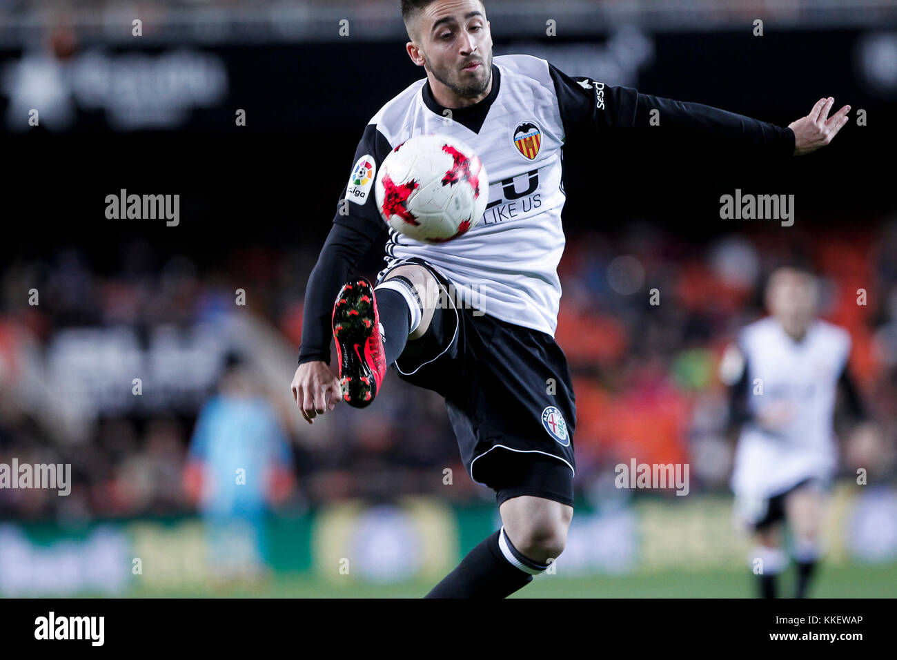 Nacho gil  during spanish the Copa del Rey, Round of 32, Second Leg  match between Valencia CF vs Real Zaragoza Stock Photo