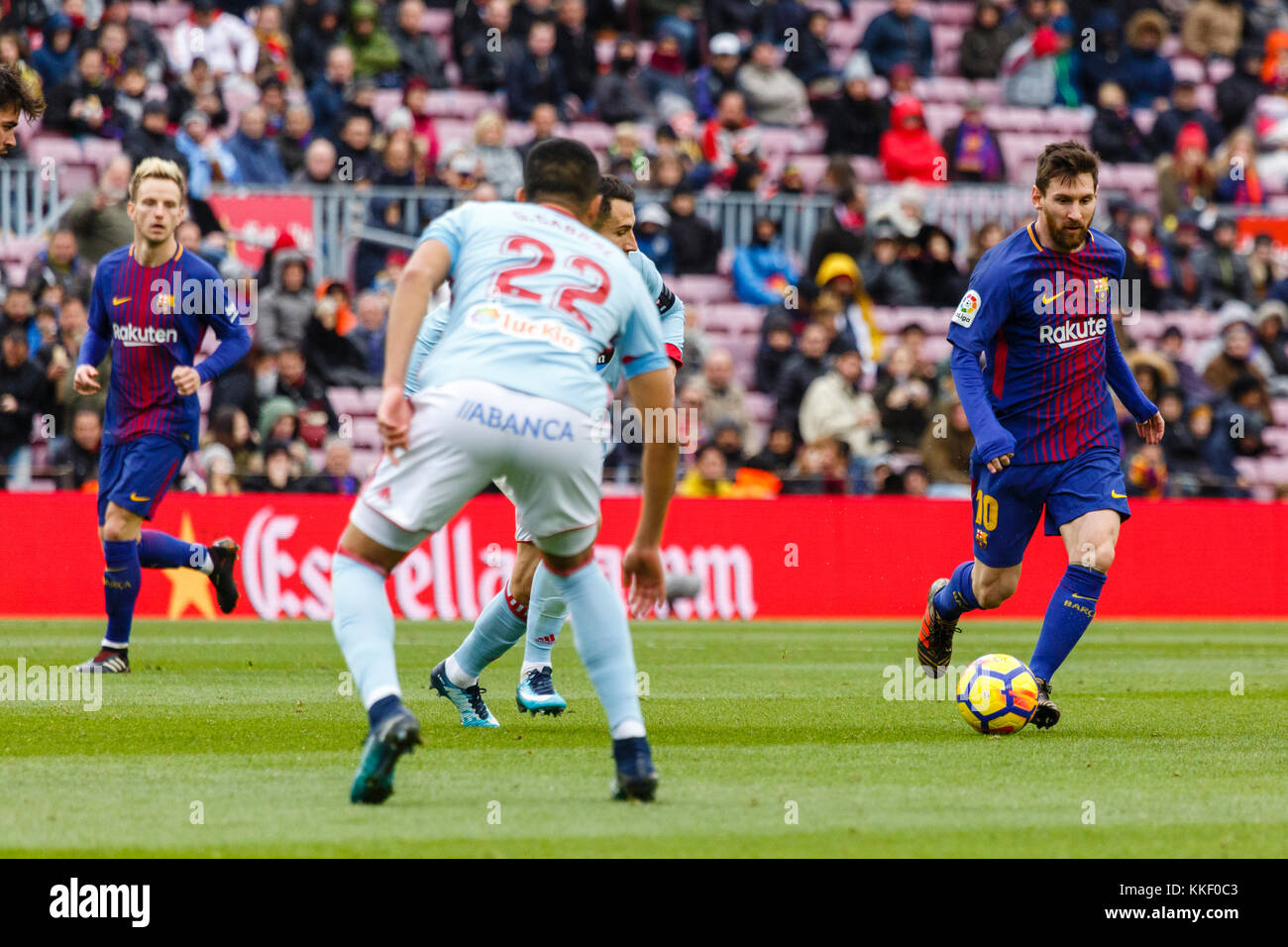 Barcelona, Spain. 02nd Dec, 2017. (10) Messi during the match of the La Liga between FC Barcelona and RC Celta at - Stock Image