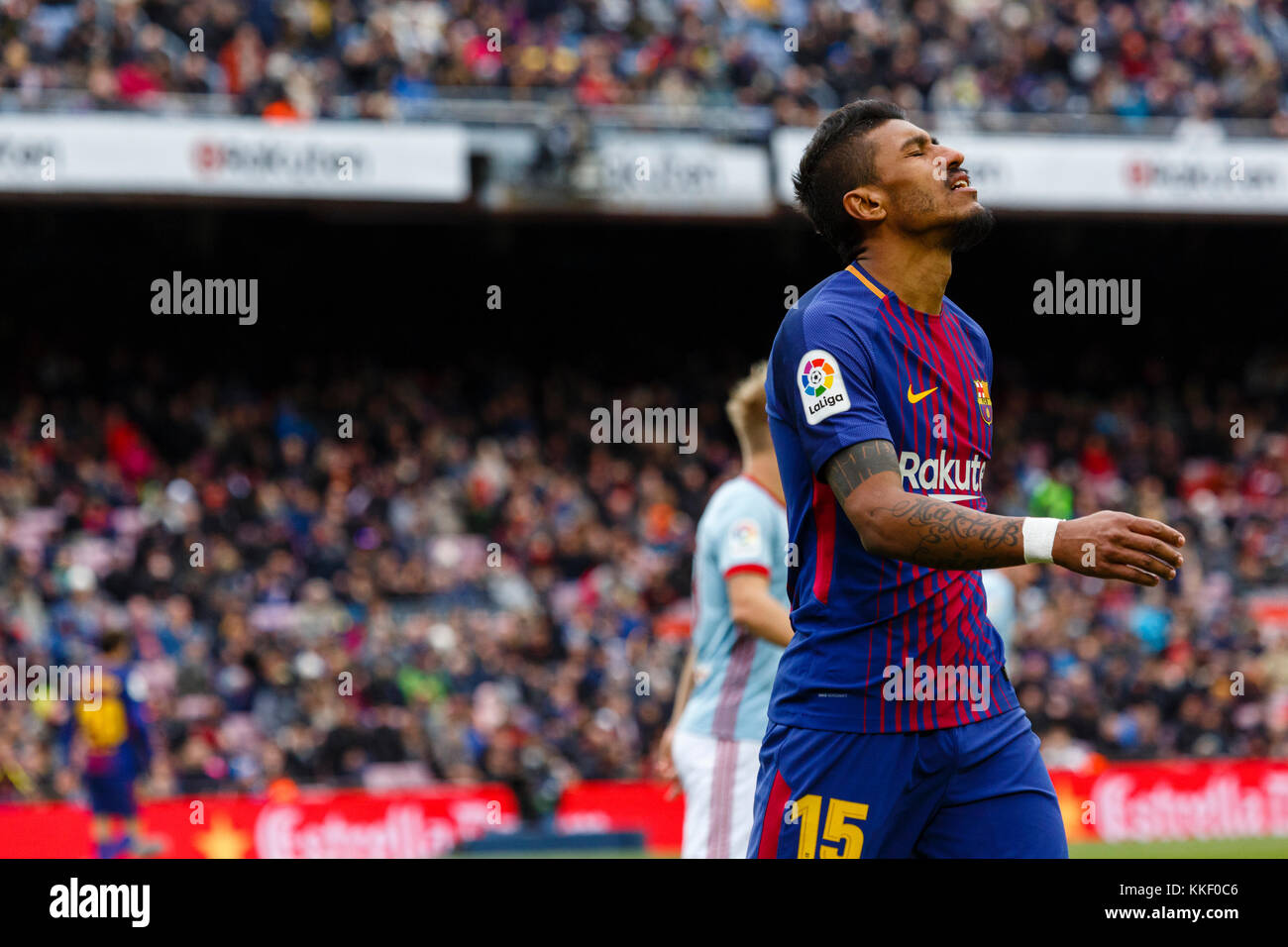 Barcelona, Spain. 02nd Dec, 2017. (15) Paulinho during the match of the La Liga between FC Barcelona and RC Celta - Stock Image