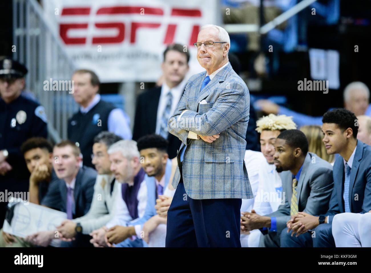 North Carolina Head Coach Roy Williams during the NCAA College Stock