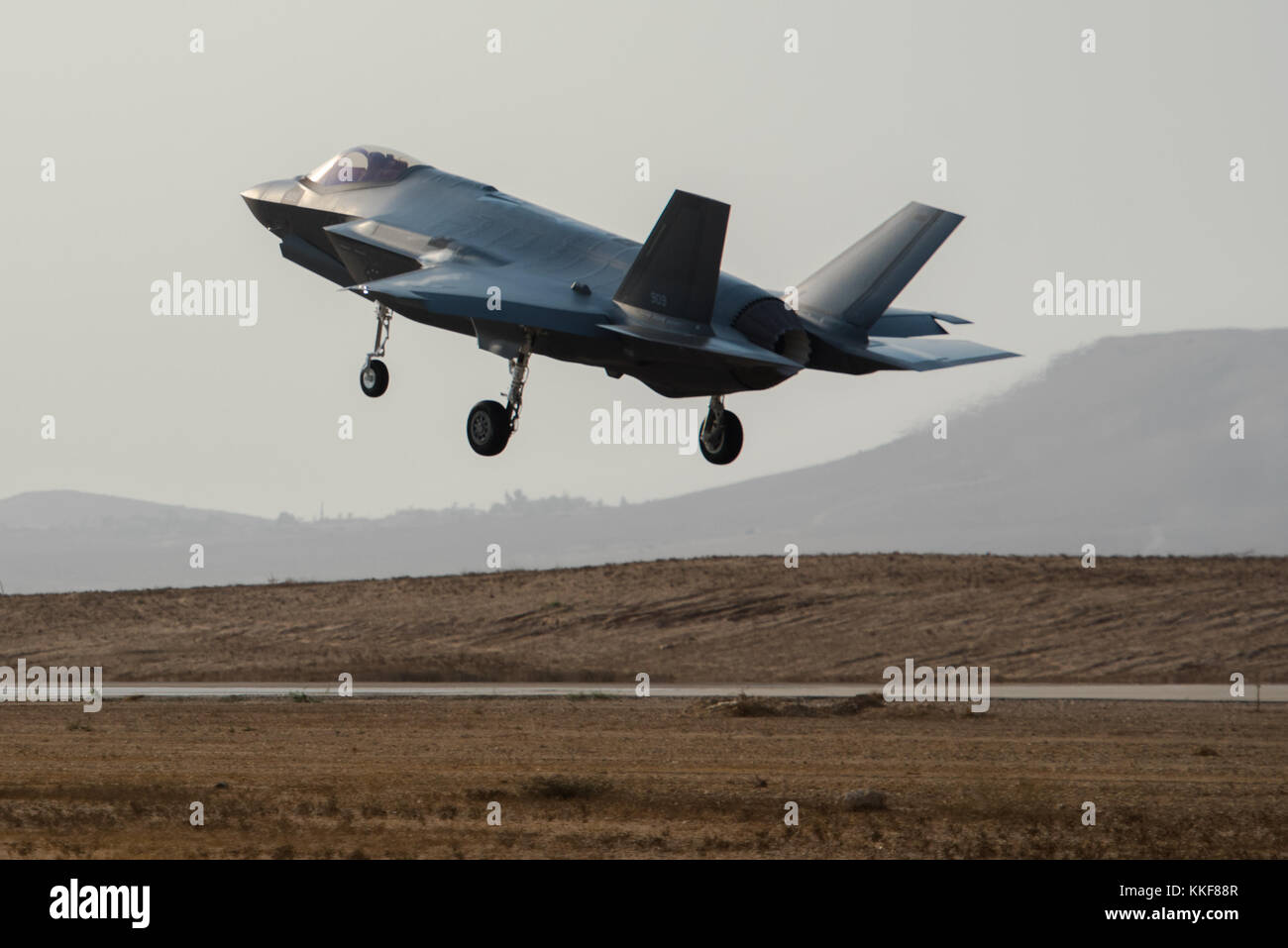 Tel Aviv. 6th Dec, 2017. File photo of a F-35 fighter jet is provided by Israel Defense Forces (IDF). Israel's air Stock Photo