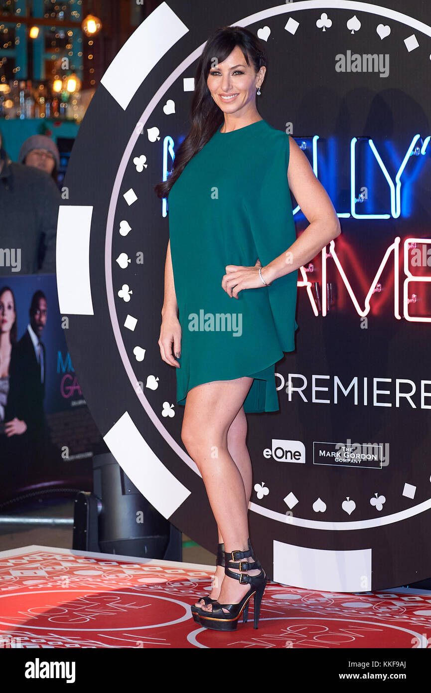London UK 6th December 2017. Molly Bloom attends the UK Premiere of Molly's Game at the VUE Cinema Leicetsre - Stock Image