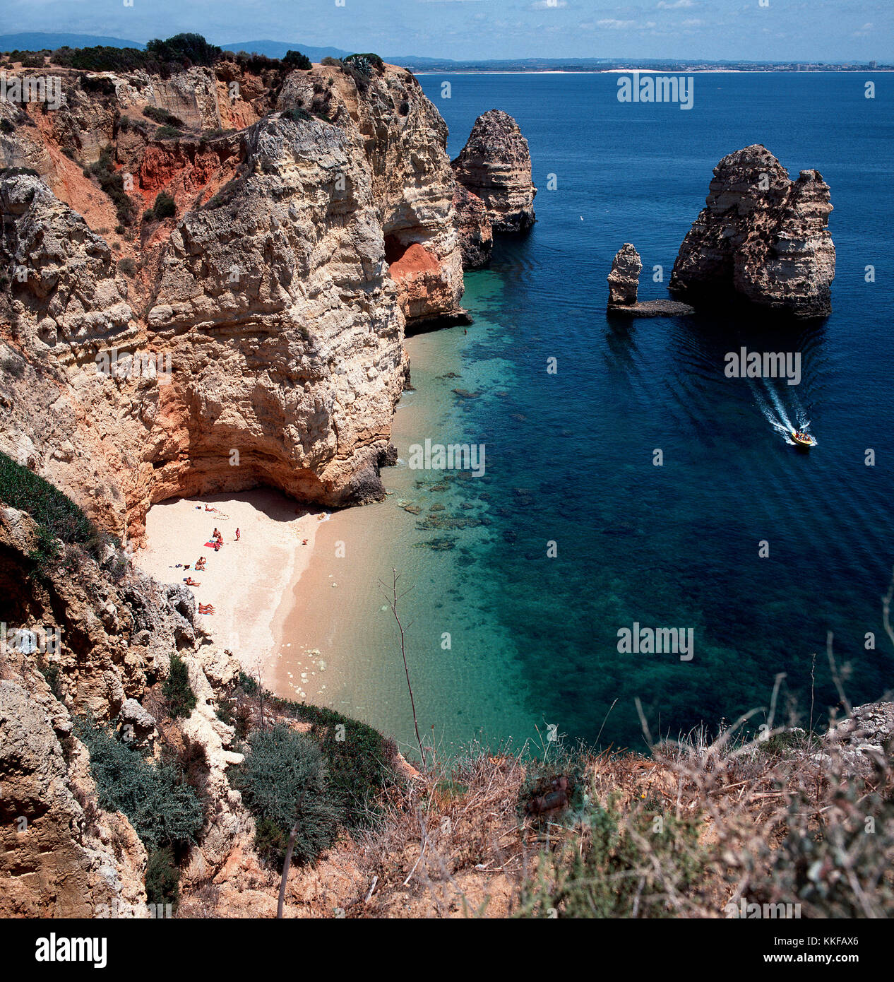 Lagos Portugal  Secluded beach - Stock Image