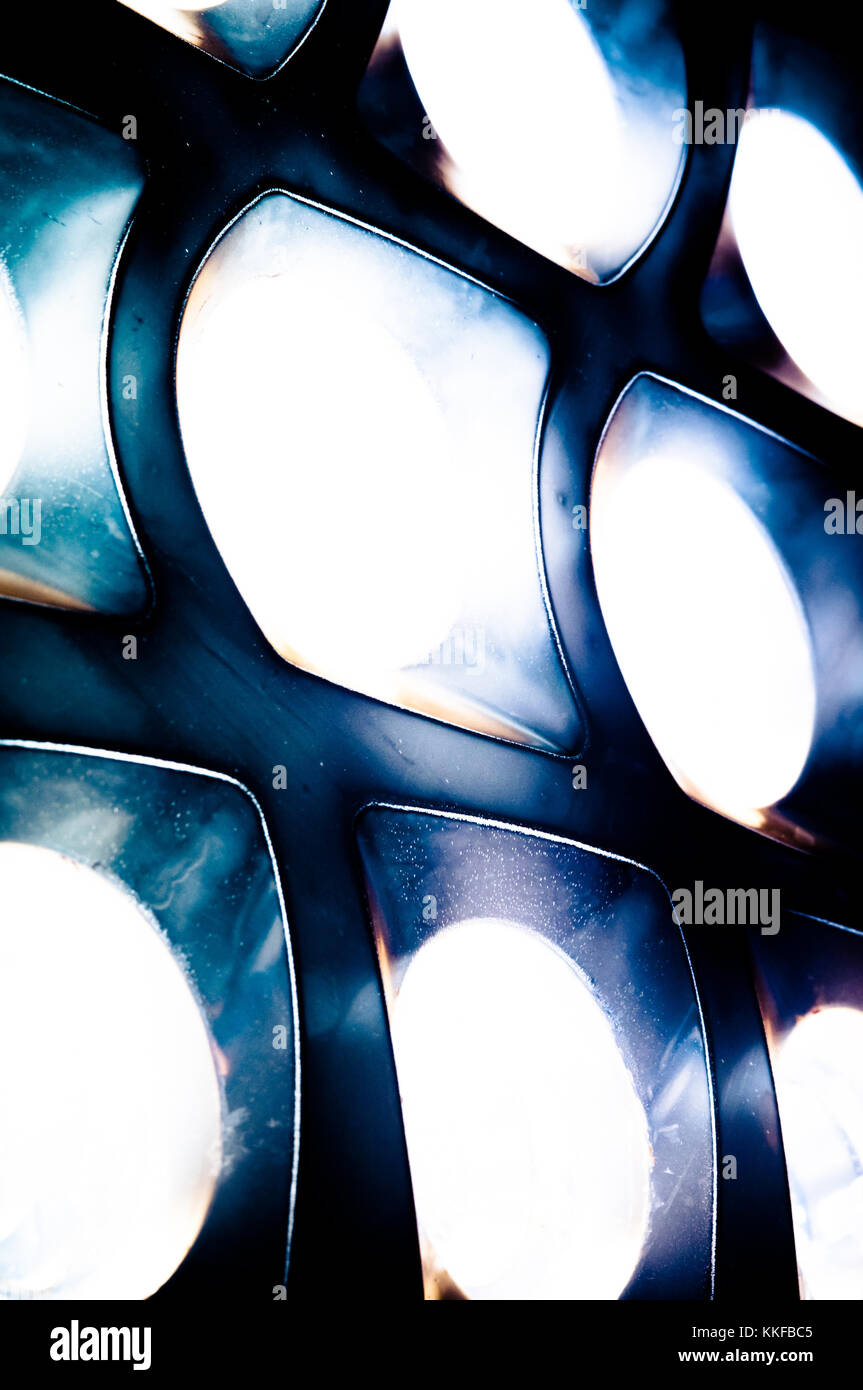 abstract mysterious alien sci-fi cells emitting light - Stock Image