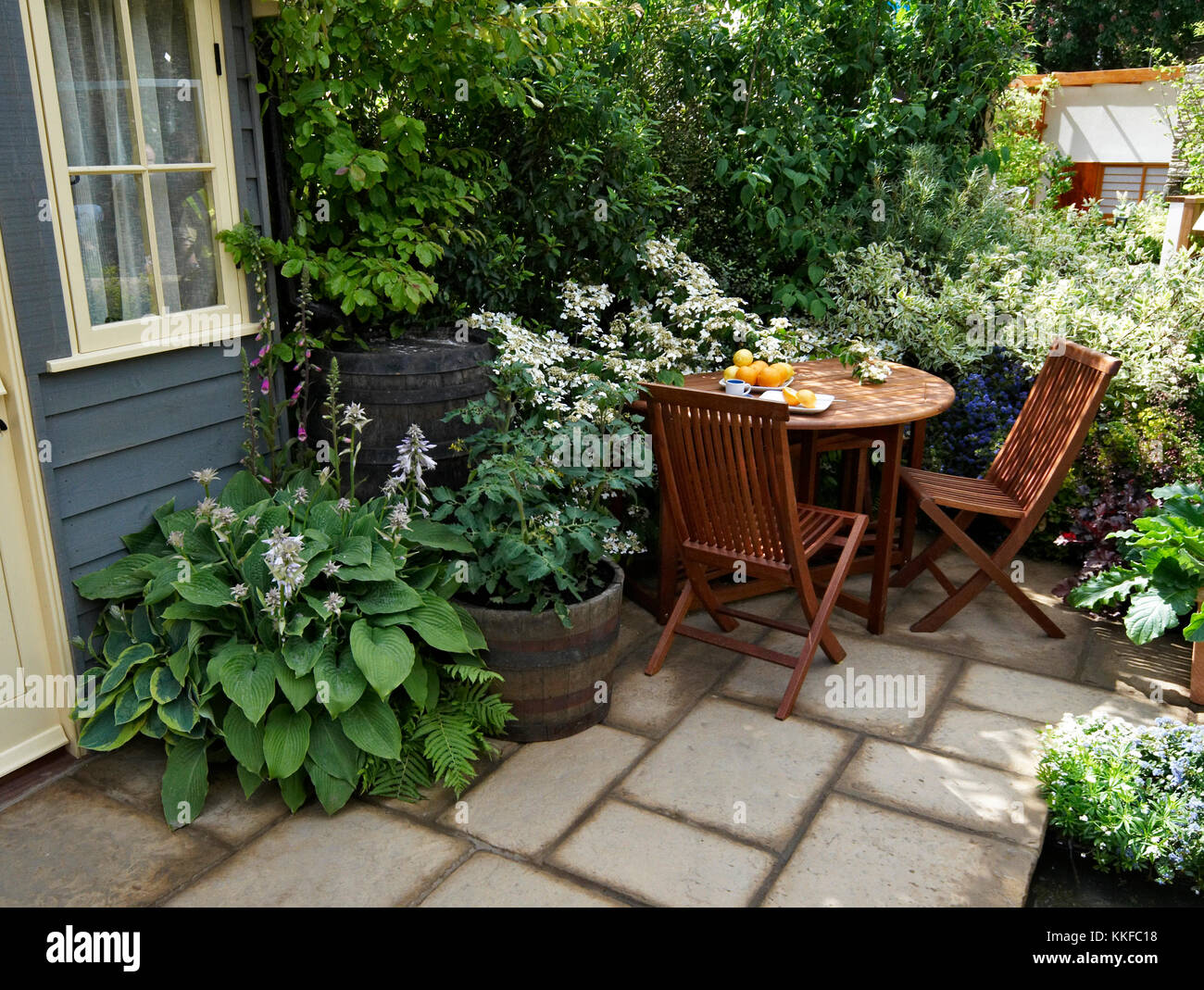 Small Patio Terrace Stock Photos Small Patio Terrace Stock