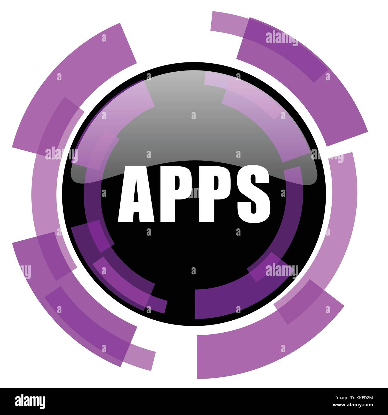 Apps pink violet modern design vector web and smartphone icon  Round