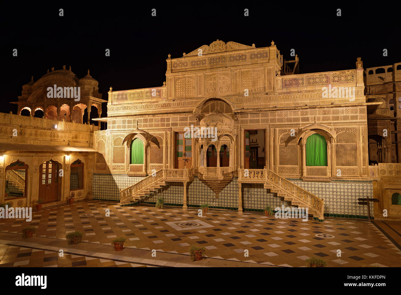 JAISALMER, INDIA, November 1, 2017 : Mandir Palace has been residence of the rulers of Jaisalmer for more than 2 - Stock Image