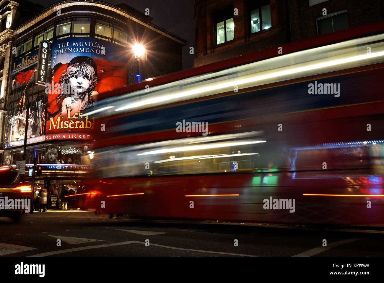 Les Miserables at the Queen's Theatre in London's West End (Shaftesbury Avenue) - Stock Image