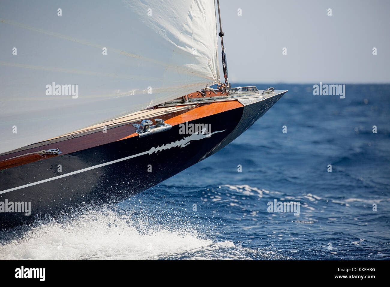 bow ,Sail Boat Stock Photo