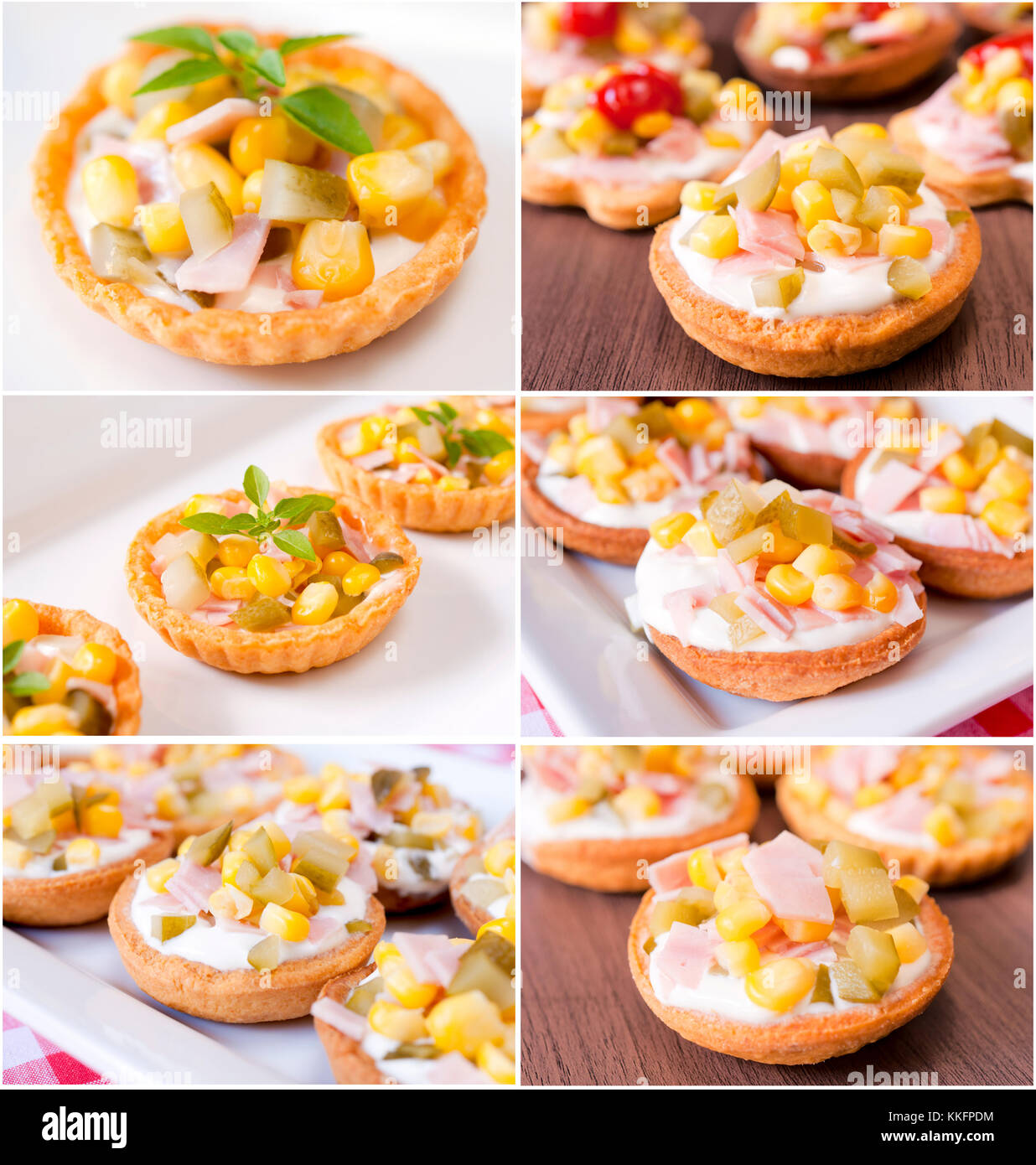 Large group of the little appetizers - Stock Image