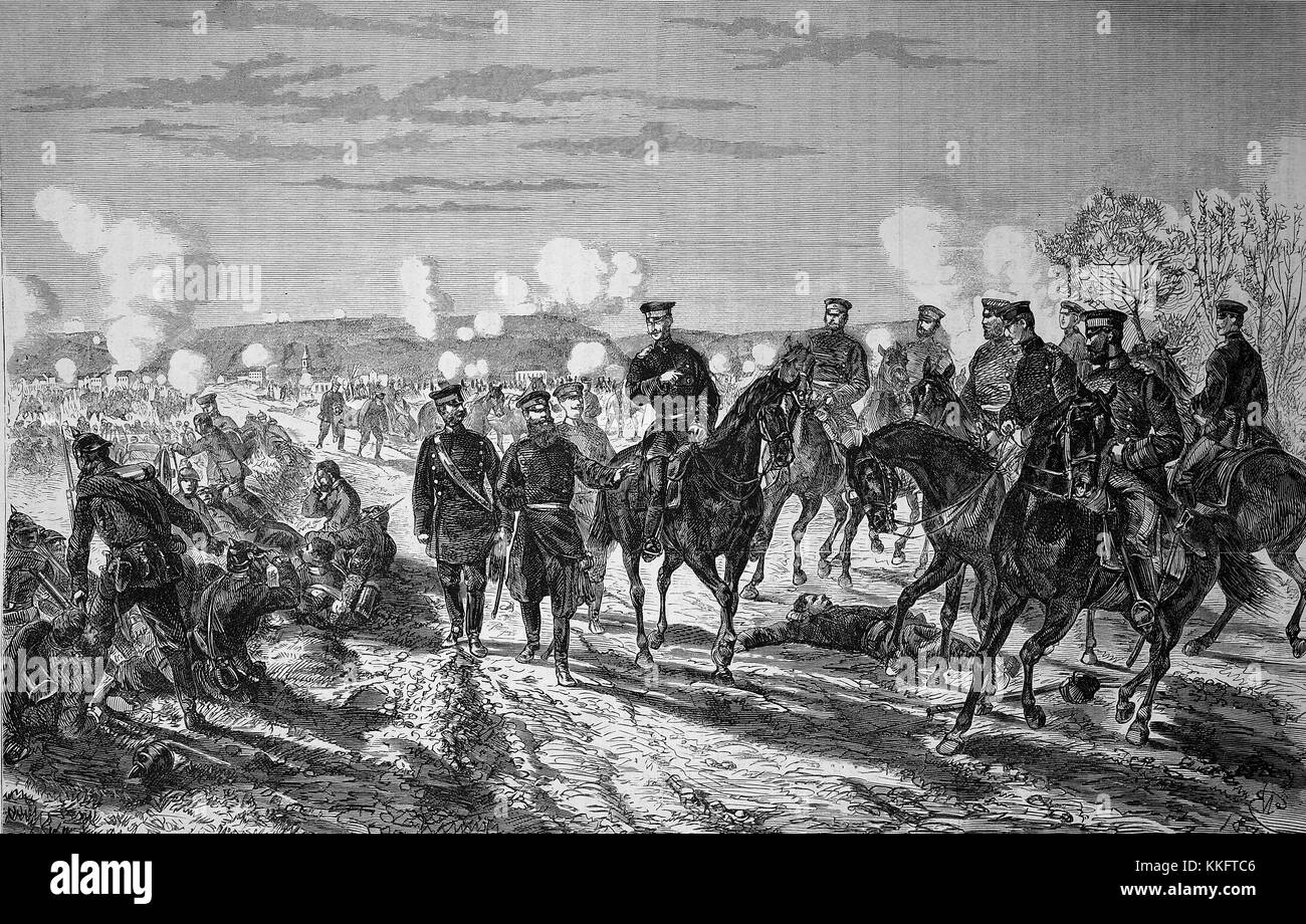 Battle at Nuits on January 18th, France, Franco-German War 1870/71, Franco-Prussian War or Franco-German War, War - Stock Image