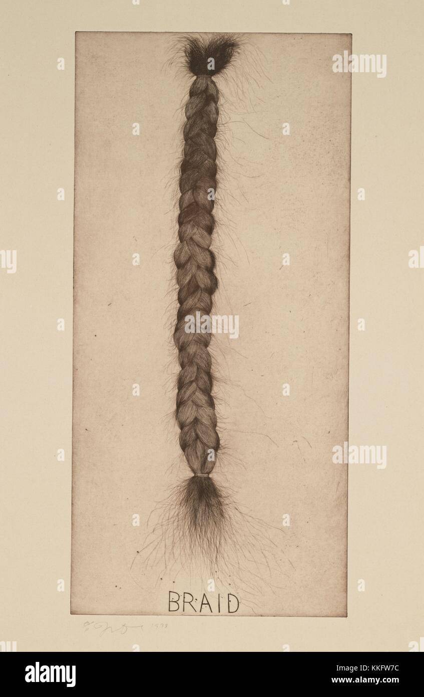 Jim Dine. (American, born 1935). Braid. 1973. Etching, plate: 33 13/16 x 16 1/16' (85.9 x 40.8 cm); sheet: 38 - Stock Image