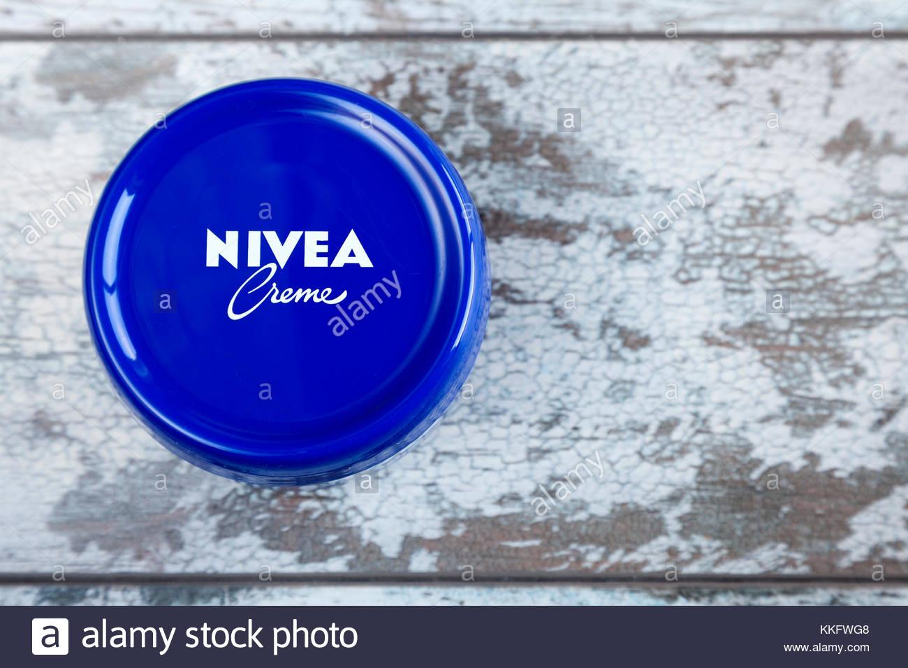 Nivea Crème container Stock Photo