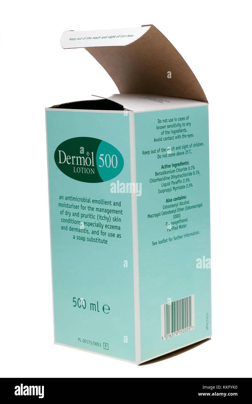 Dermol 500 moisturising lotion - Stock Image
