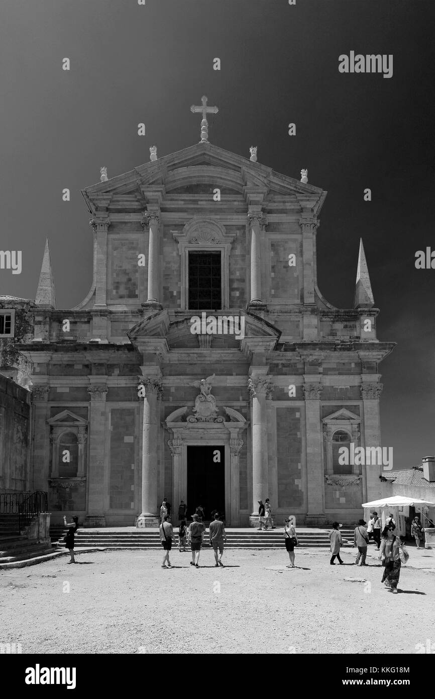 Saint Ignatius church, Dubrovnik, Dubrovnik-Neretva County, Dalmatian coast, Adriatic Sea, Croatia, Balkans, Europe, - Stock Image