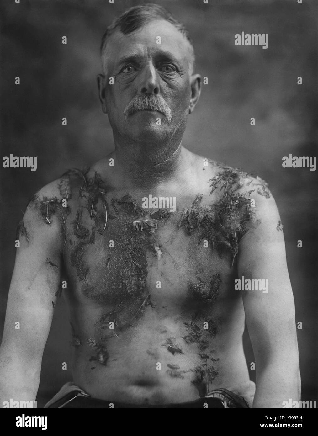 Tarred and feathered Stock Photo