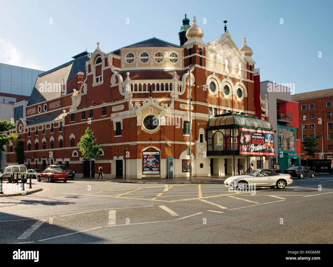 The Grand Opera House, Great Victoria Street, Belfast. Victorian design by Frank Matcham. Theatre venue and city - Stock Image