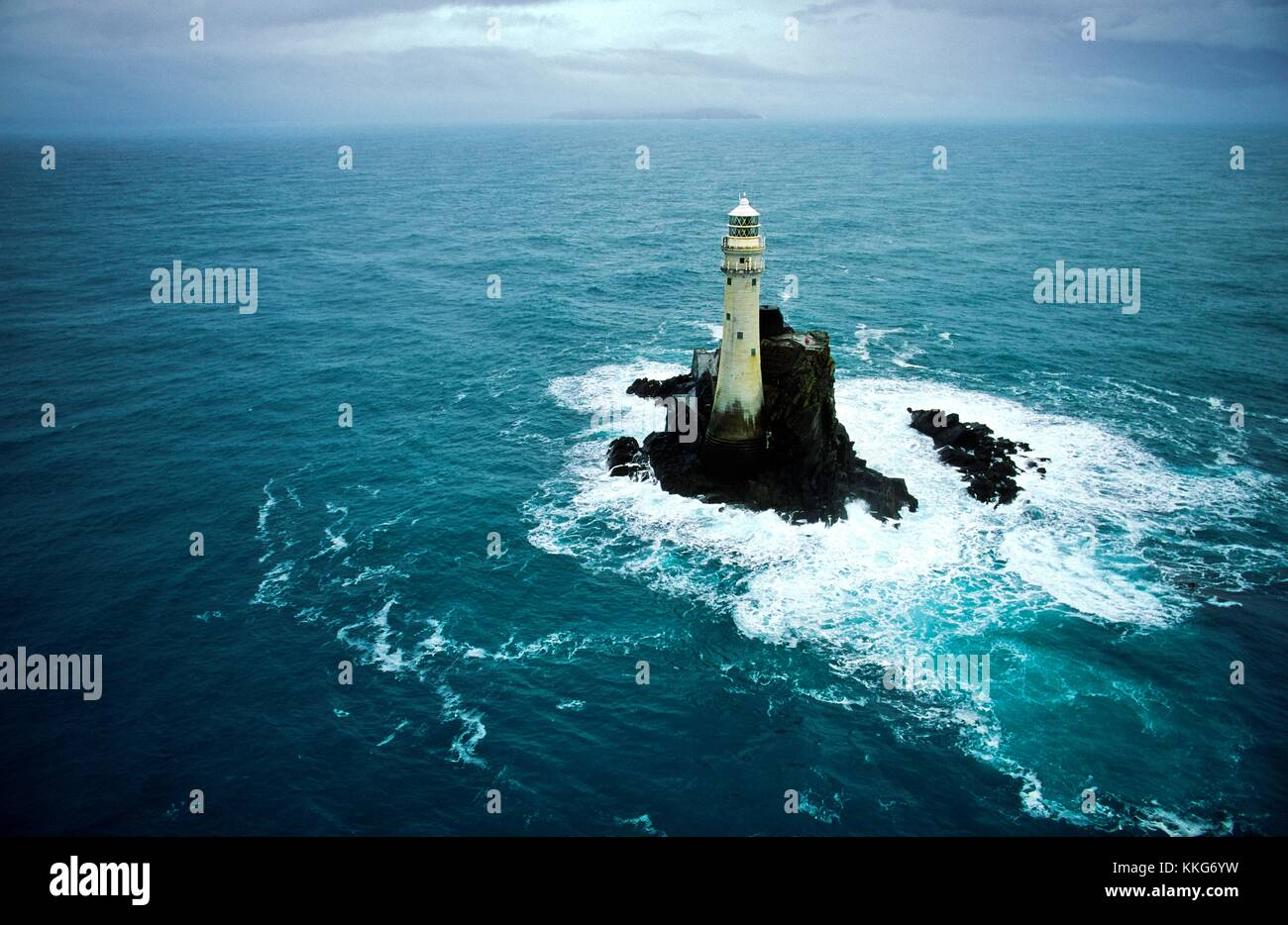 The Fastnet Rock Light Lighthouse off the Atlantic coast of County Cork, south west Ireland. - Stock Image