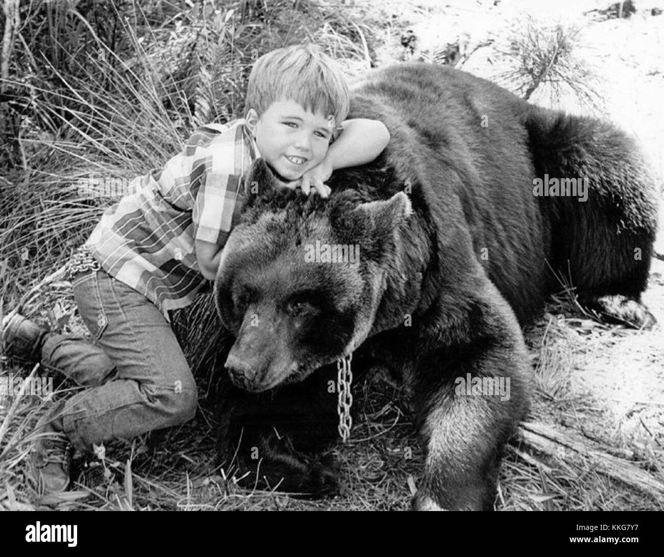 Gentle Ben premiere Clint Howard 1967 - Stock Image