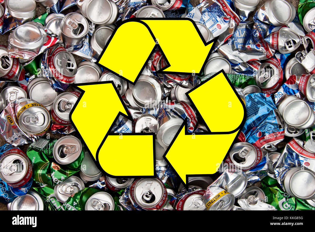 Drinks Cans For Recycling Stock Photos & Drinks Cans For