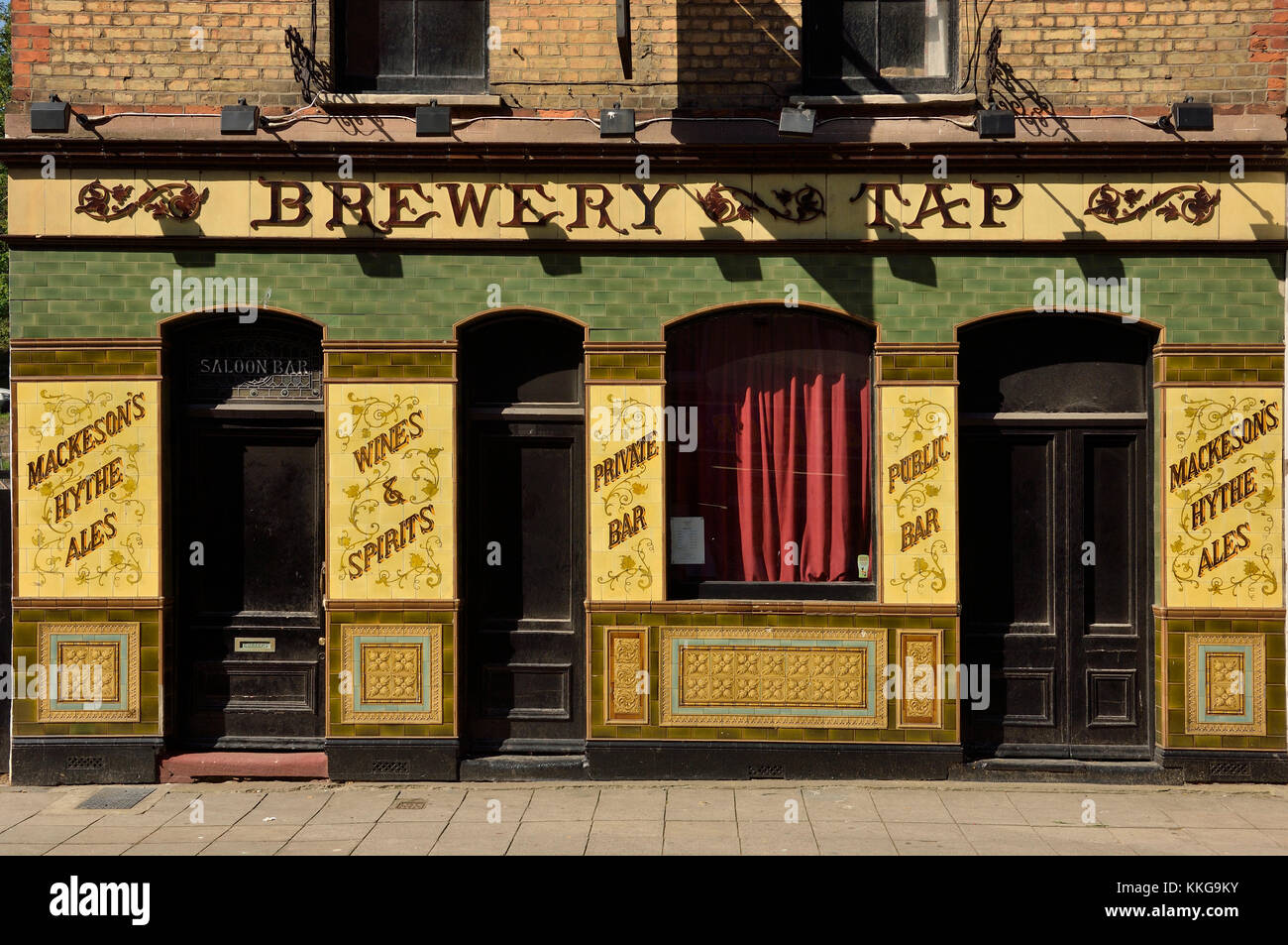The Old Brewery Tap pub that has been converted to an arts educational exhibition space, Old town, Folkestone, Kent, - Stock Image