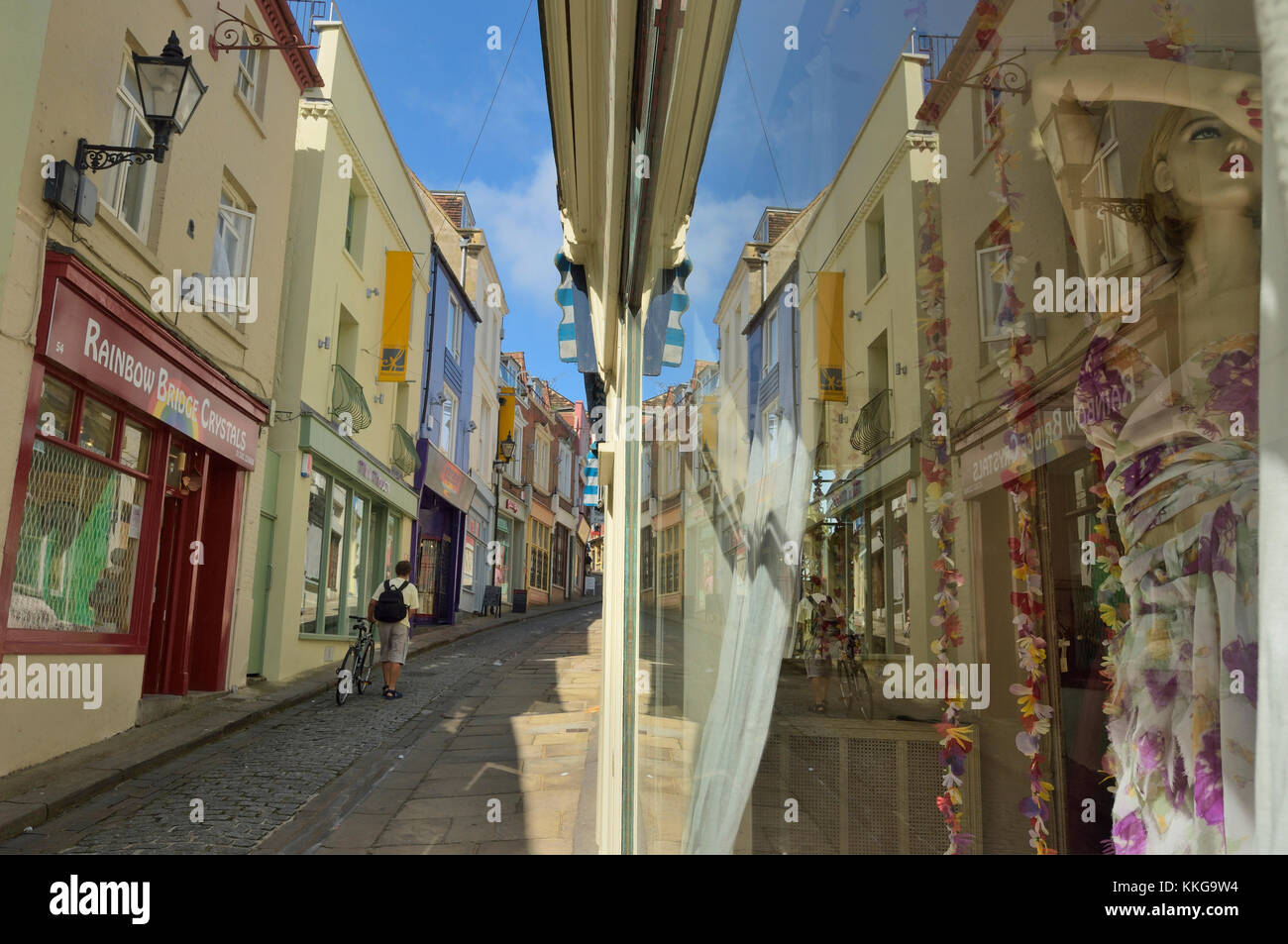 The Old High Street, Old Town, Folkestone, Kent, England, UK - Stock Image