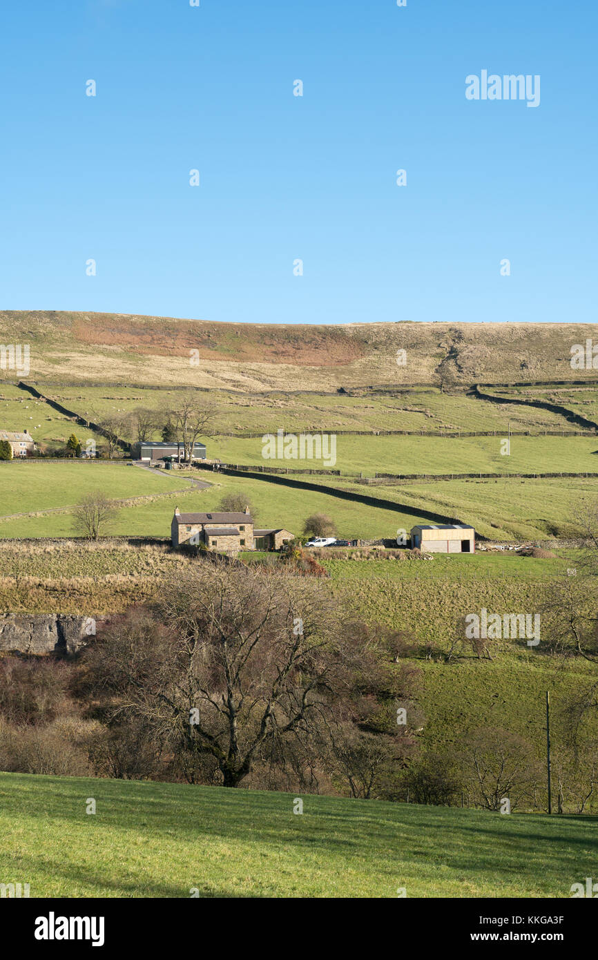 Remote settlements near Rookhope in the north pennines, Co. Durham, England, UK - Stock Image