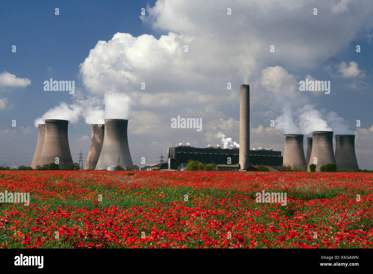 A coal-fired power plant in Cheshire in the United Kingdom. - Stock Image